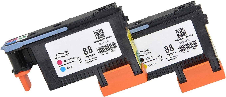 Wenon 2 Pack HP88 Printhead C9381A C9382A for HP Officejet Pro K5400 L7480 L7500 L7550 L7580 L7590 L7650 L7680 L7710 L7750 L7780 L7790 Printer