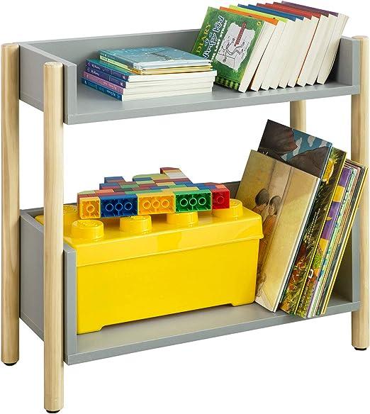 SoBuy KMB28-HG Estantería en Escalera,Librería Infantil con 2 Estantes Altura 56 cm ES: Amazon.es: Hogar
