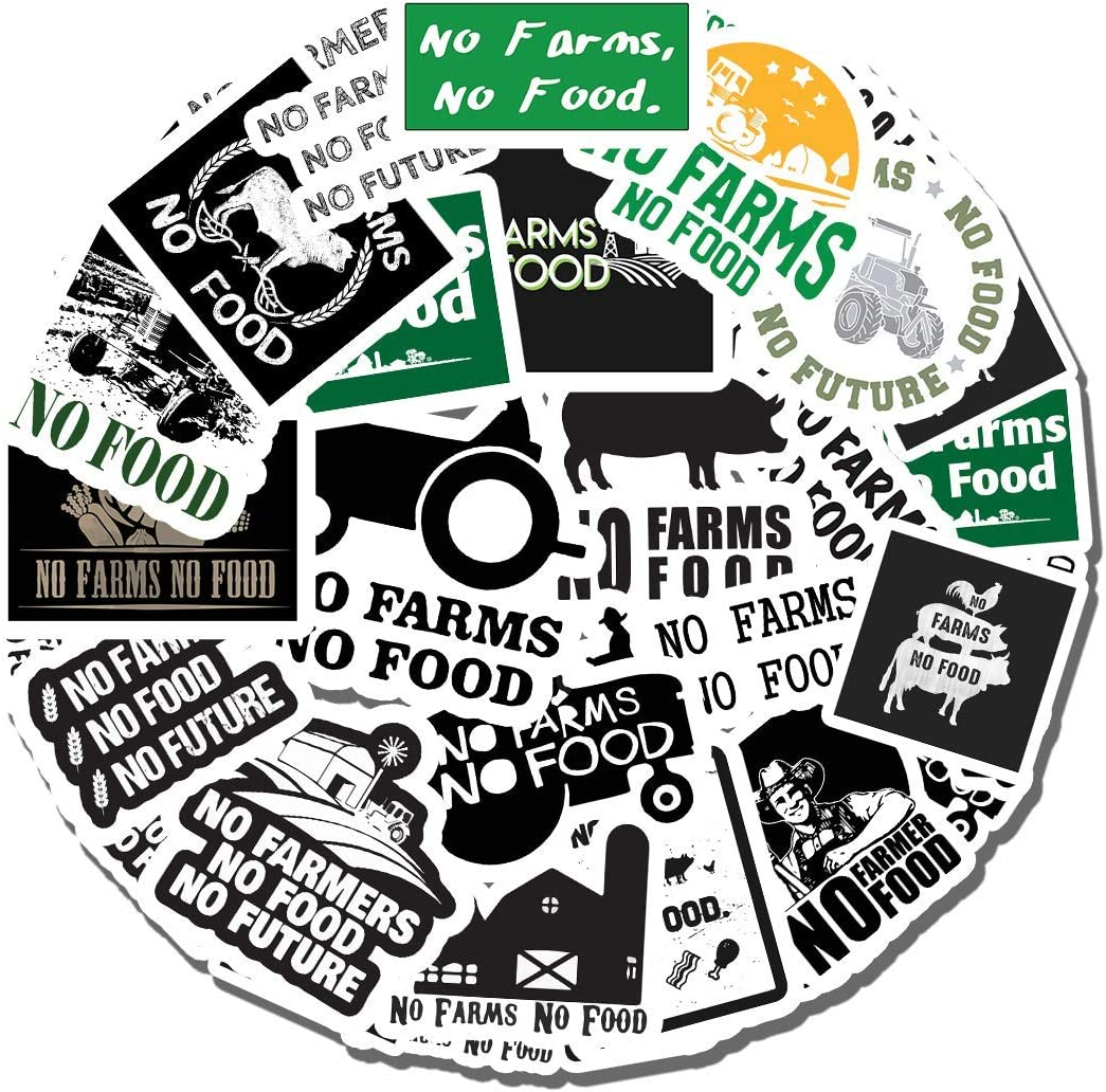20 PCS Stickers Pack No Aesthetic Farms Vinyl No Colorful Food Waterproof for Water Bottle Laptop Scrapbooking Luggage Guitar Skateboard
