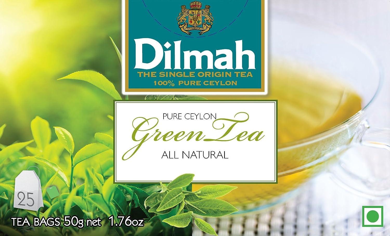 Dilmah Ceylon Green Tea 100 Gm Two Packs Of 50 Gm Tea Bags Amazon