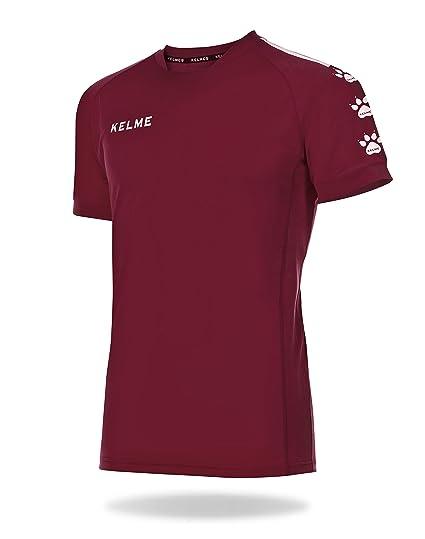 KELME Lince Camiseta Fútbol, Niños, Granate/Blanco, S