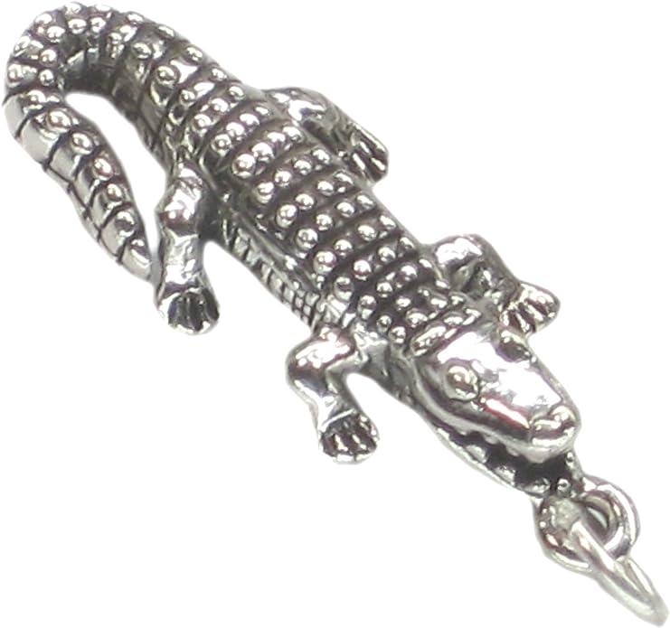 Sterling Silver Alligator Bague Crocodile Bijoux Détail