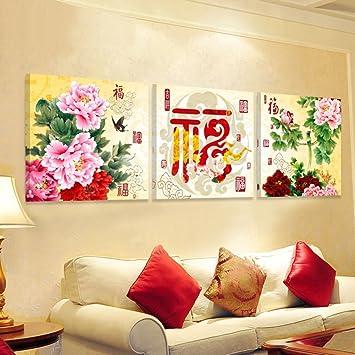 WANGS Neue Chinesische Dekorative Malerei Wohnzimmer Sofa Wandfarbe  Restaurant Zimmer Bilderrahmen Eis Hotelcharakter Aufh