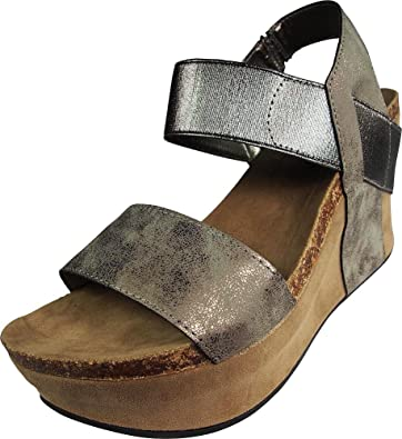 3fcce15016 Amazon.com | Pierre Dumas Women's Hester-1 Wedge Sandals | Platforms ...