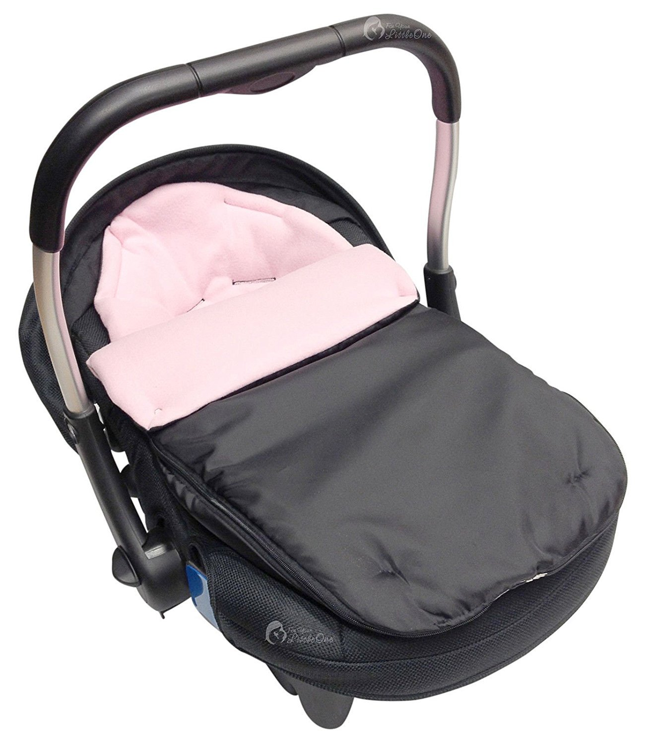 Car Seat Footmuff / Cosy Toes Compatible with Silver Cross Light Pink For-Your-Little-One Others