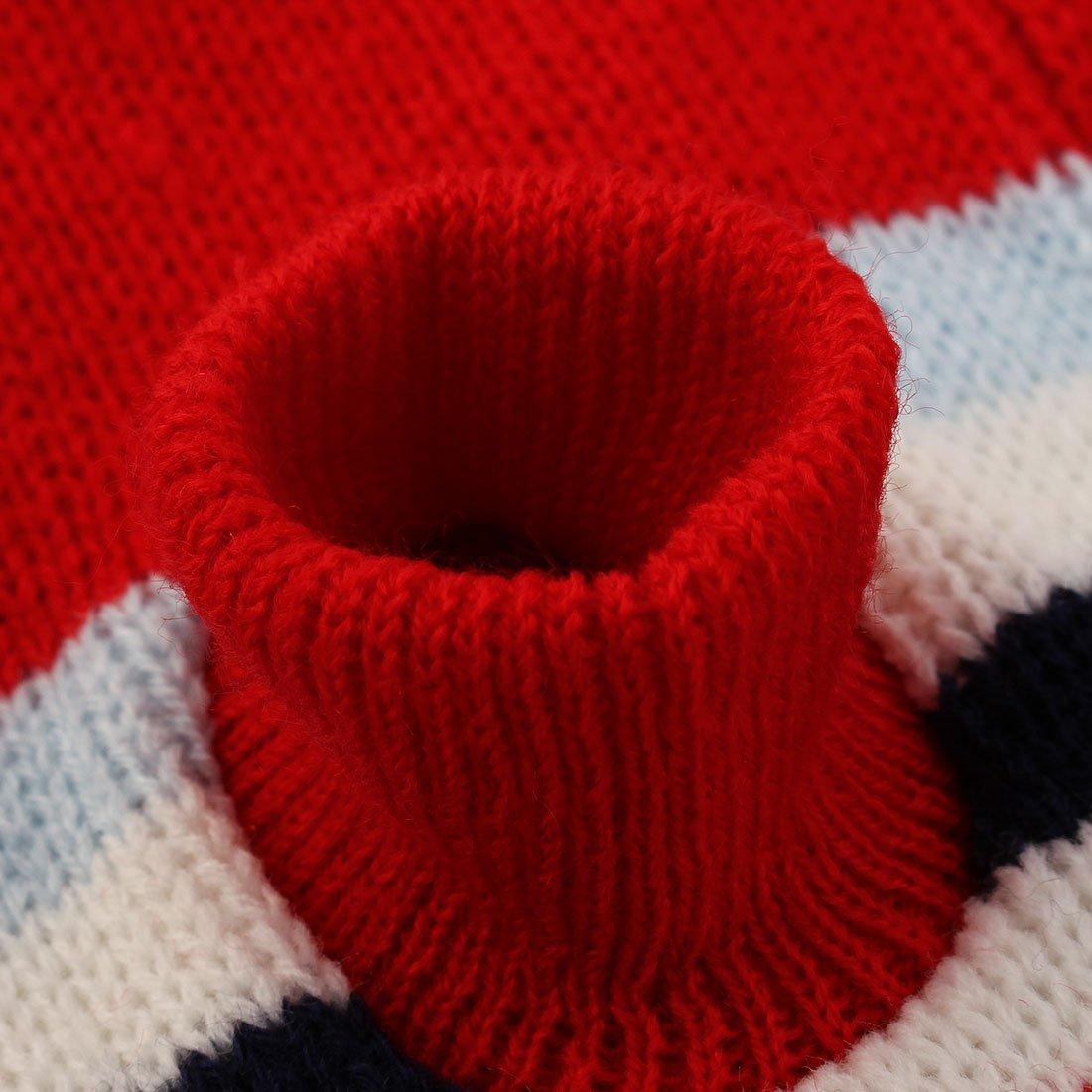 Amazon.com : eDealMax Invierno de Punto Caliente capa del suéter del patrón Raya de Lana del Animal doméstico ropa de época Chaqueta Ropa : Pet Supplies