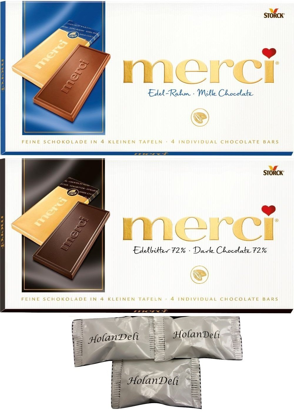 Amazon.com : Merci Chocolate, Finest Dark and Milk Assortment of ...