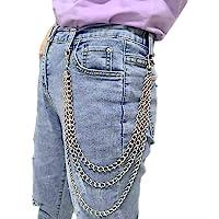 Honbay Unisex Hip Hop Punk Trousers Chain Wallet Chain Jeans Pant Chain
