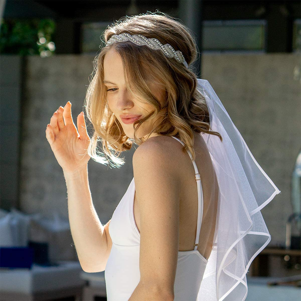 Full Face Mask Bachelorette Veil Headband with Bridal Fascinator Ivory Bridal Wedding Veil Ivory Birdcage Veil Polka Dot Veil