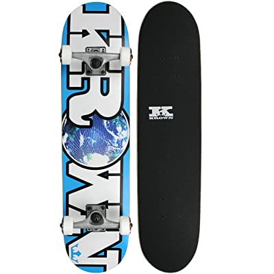 Krown World Rookie Complete Skateboard (Blue) : Standard Skateboards : Sports & Outdoors