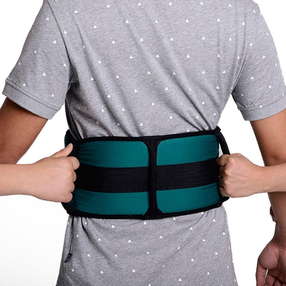 LUCKYYAN Healthcare Adjustable Transfer Belt - Thickened Twill Cotton Postoperative Help Nursing Security Restraint Band - Transfer Waistband for Patient (Green)