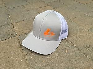 Snapback Trucker Hat 406 Area Code Fly Fishing Hat by Area Code Art (Silver)