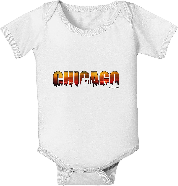 TooLoud Chicago Skyline Cutout Baby Romper Bodysuit