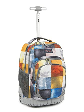 296c9a68191a Amazon.com  Tilami Rolling Backpack Armor Luggage School Travel Book Laptop  18 Inch Multifunction Wheeled Backpack for Kids and Students  Clothink
