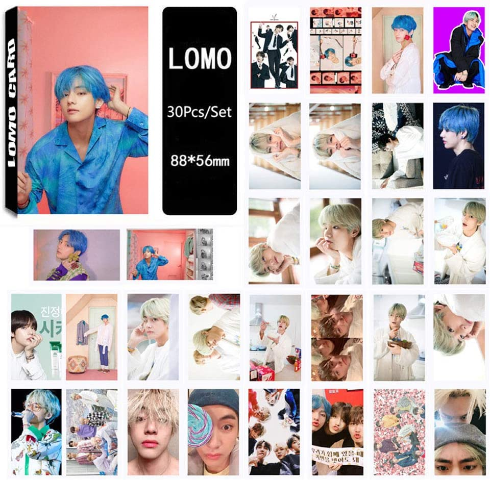 8 Pack//240 Pcs BTS Lomo Card Kpop Bangtan Boys Photocards MAP of The Soul Persona Greeting Card with Postcards Box
