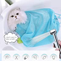 ChiChe Thicken Mesh Cat Grooming Bath Bag Cats Adjustable Washing Bags for Pet Bathing Nail Trimming Injecting Anti…
