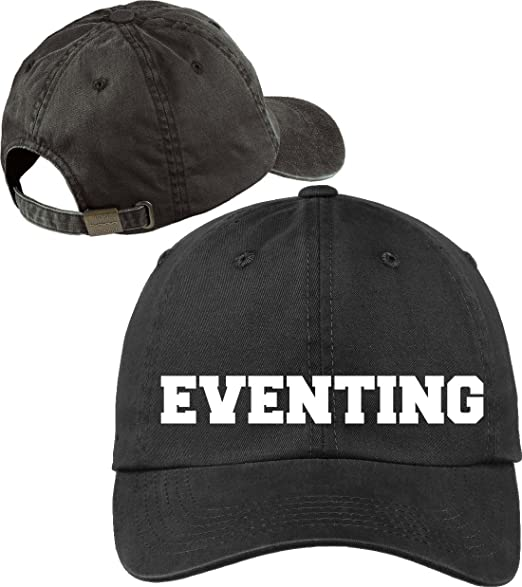 Amazon.com  Horse Lovers Eventing Black Baseball Cap Novelty Hat ... c68c3c98f2f