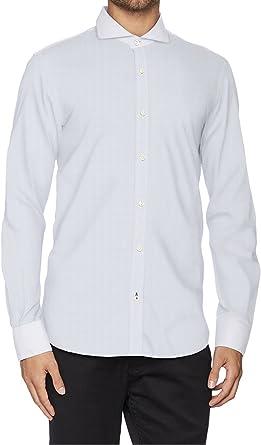 El Ganso 1050W170026 Camisa Casual, Blanco Celeste, 41 para ...