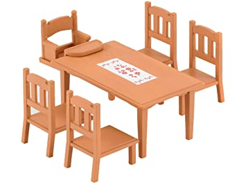 Amazon.es: Sylvanian Families 2933 - Mesa y sillas de comedor ...