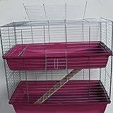 XXL 1m doppel Hasenkäfig Meerschweinchenkäfig rot