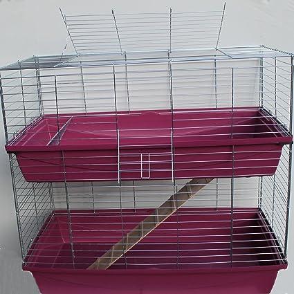 XXL 1 m doble jaula cobaya Conejo Rojo: Amazon.es: Productos para ...