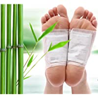 Foot Patches: Detox Body Cleansing Pads Detoxification All Natural Health Cleanse Feet Adhesive Remove Body Toxins
