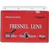 Premium Grade Fresnel Lens Pocket Wallet Credit Card Size • Magnifier • Solar Fire Starter • Ruler - Unbreakable Plastic…