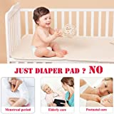 Baby Waterproof Bed Pad Kids Natural Organic Cotton Absorbent Mattress Toddler Bedwetting Mat Crib Pee Urine Pads Changing underpads Diaper for Incontinence Pet Elderly Menstruation Women