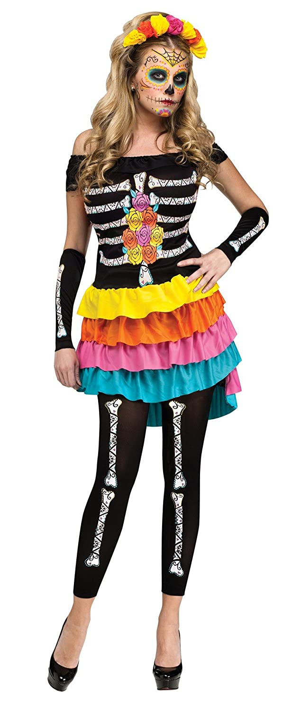 Amazon.com Fun World Costumes Womenu0027s Dia De Los Muertos Adult Costume Clothing  sc 1 st  Amazon.com & Amazon.com: Fun World Costumes Womenu0027s Dia De Los Muertos Adult ...