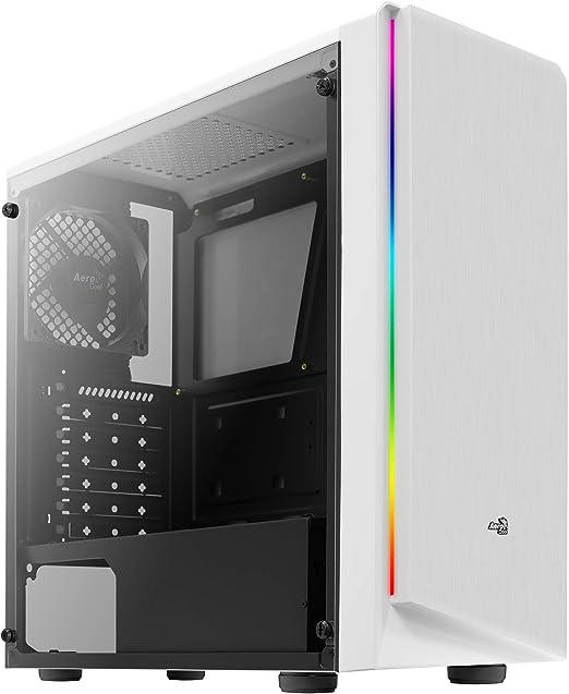 Aerocool Rift, caja PC ATX blanca, RGB 13 modos, panel lateral ...