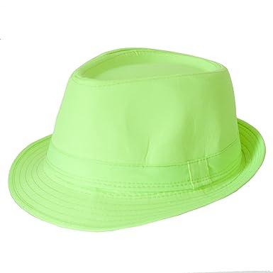 e76ca3ea46 Men s Women s 58cm Bright Neon Green Trilby Hat  Amazon.co.uk  Clothing