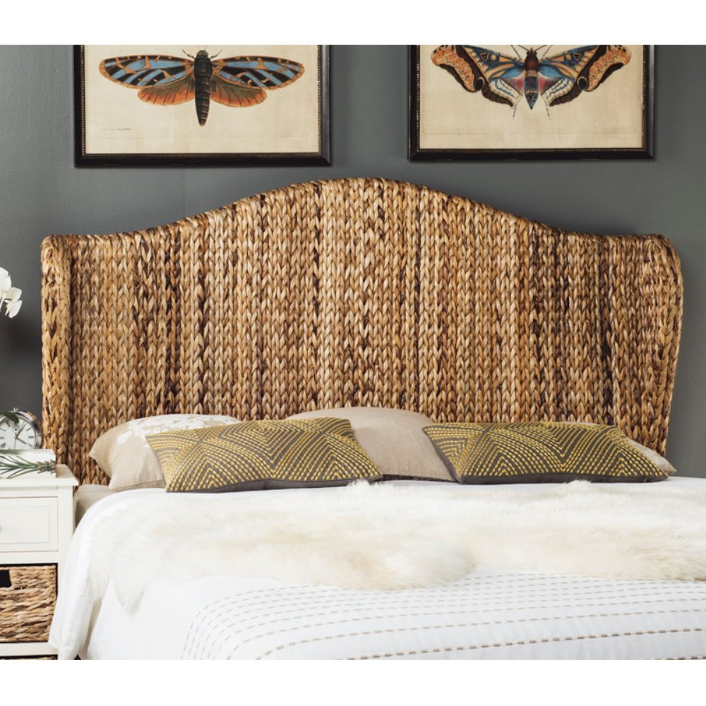 Safavieh Home Collection Nadine Natural Winged Headboard, Queen by Safavieh