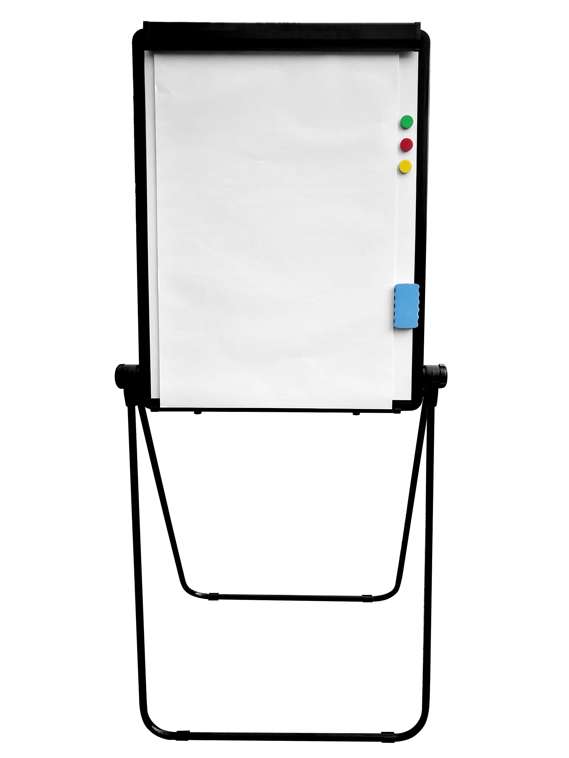 MustRun U-Stand Magnetic Double Surface Whiteboard/Flipchart Easel, 28 X 36 Inches, Black