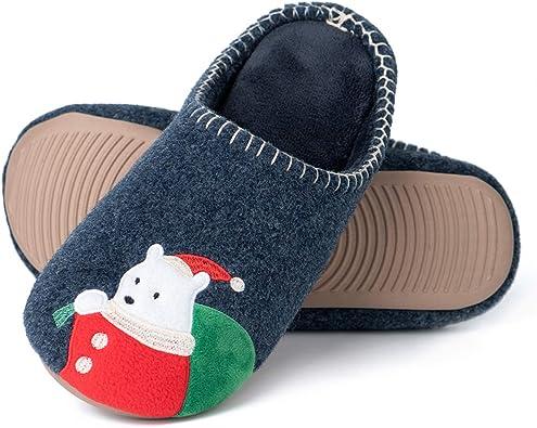 Zapatillas De Estar por Casa Mujer Invierno Espuma de Memoria Zapatillas de casa Antideslizantes Suave Pantuflas Animales Mujer Hombre: Amazon.es: Zapatos y complementos