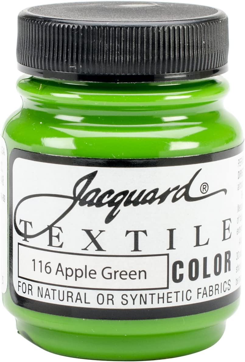 Jacquard Products Textile Color Fabric Paint 2.25-Ounce, Apple Green
