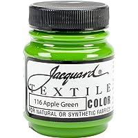 Jacquard Textile Color Fabric Paint 2.25oz-Apple Green