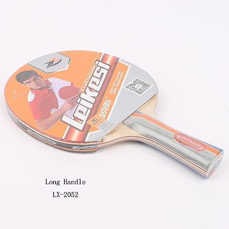 Leikesi La raqueta de tenis de Mesa Dos estrellas 2052B De tallo ...