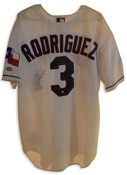 new product a7789 df07c Signed Alex Rodriguez Jersey - White Rawlings This has some ...