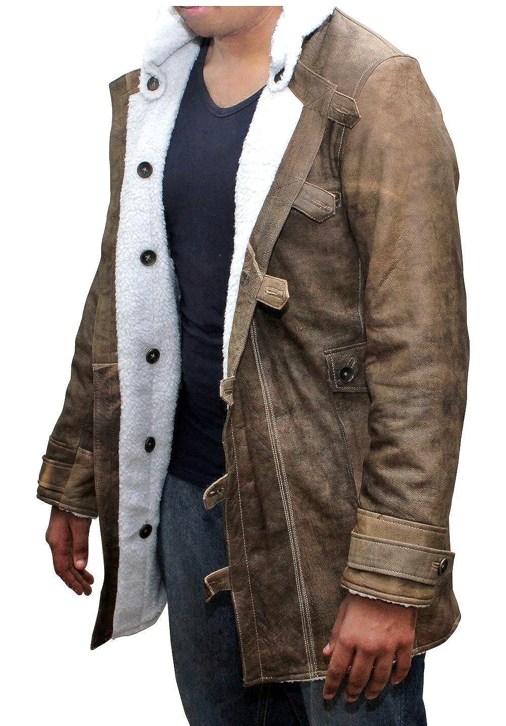 Genuine Swedish Mens Bomber Jacket - Shearling Leather Winter Jacket Coat for Men