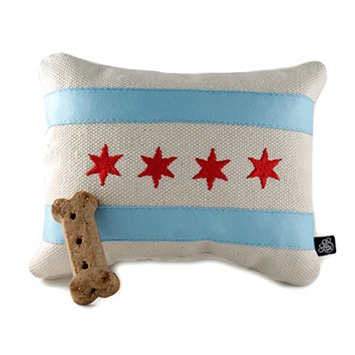 Amazon Chicago Flag Embroidered Dog Toy Handmade Dog Toy