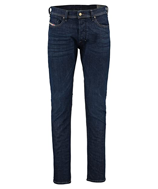 "ed16795d Diesel Tepphar Mid Indigo Wash Slim-Carrot Fit Jeans - 34"" Waist /  32"""