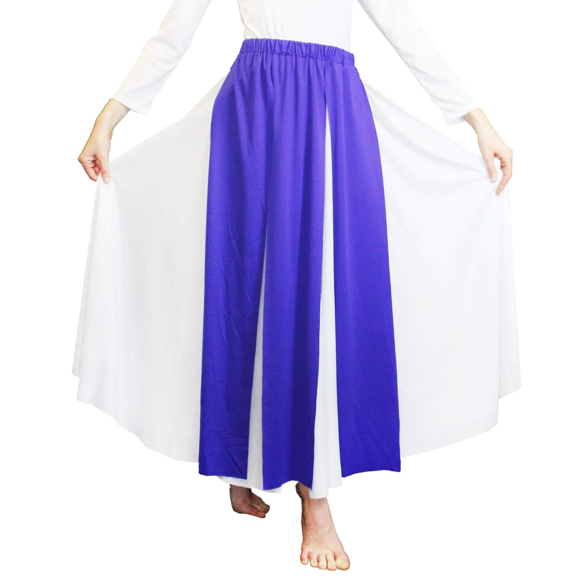 Danzcue Praise Dance Streamer Skirt, Deep Purple, L-XL-Adult by Danzcue