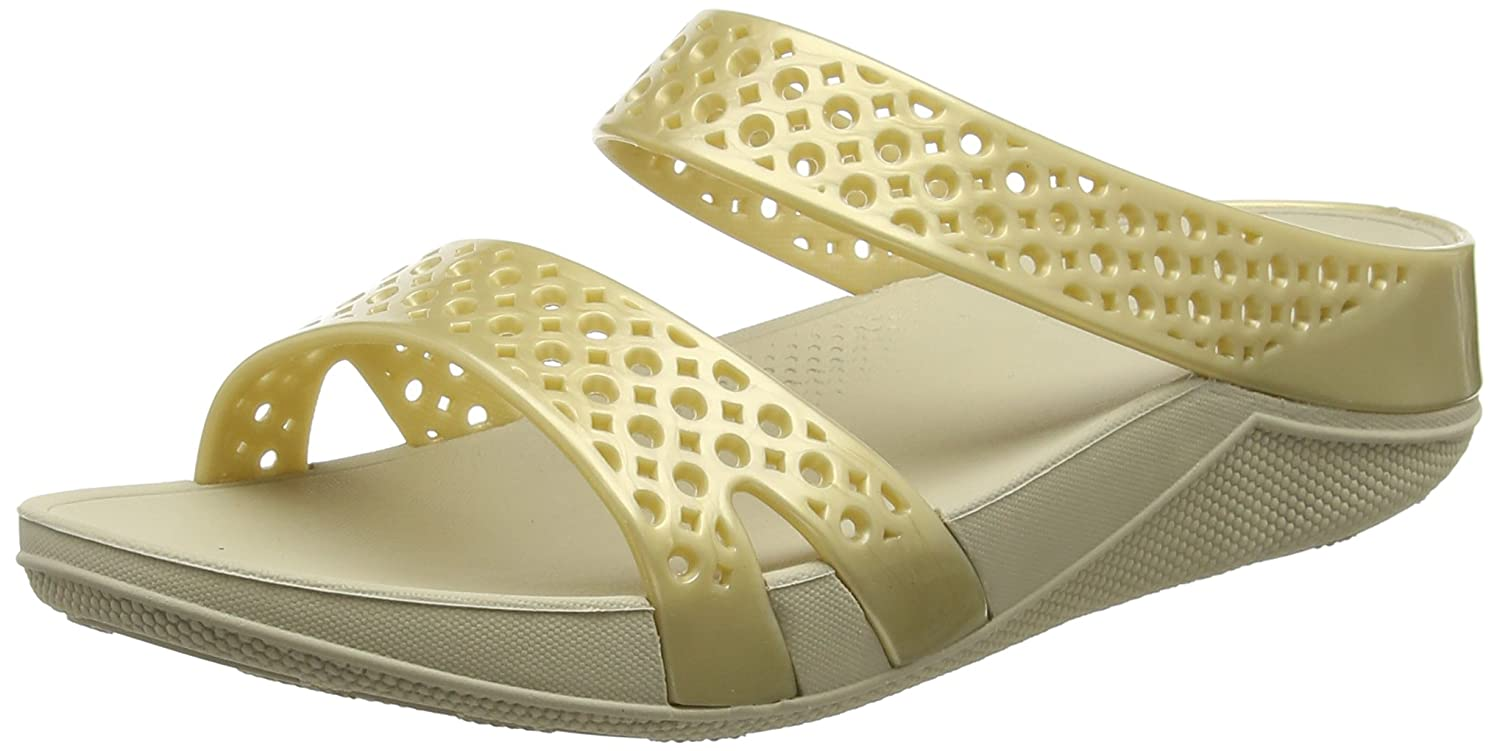 3b02f80a32e Fitflop Women s Welljelly Z-Slide Sandals Open-Toe (Gold)