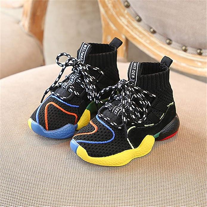 f6e3905c633bd Enfants Chaussures pour Filles GarçOns Noir Occasionnel Formateur BéBé  GarçOn Sneakers Mode Sport Chaussure  Amazon.fr  Chaussures et Sacs