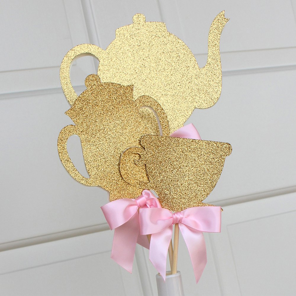 Alice in Wonderland Party Decoration. Tea Party Centerpiece. 3CT.