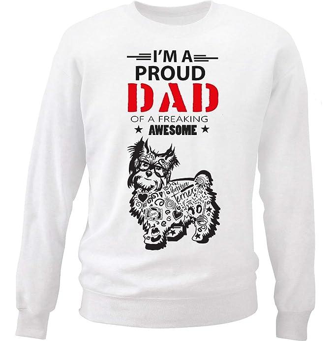 teesquare1st Yorkshire Terrier - Proud Dad b Sudadera: Amazon.es: Ropa y accesorios