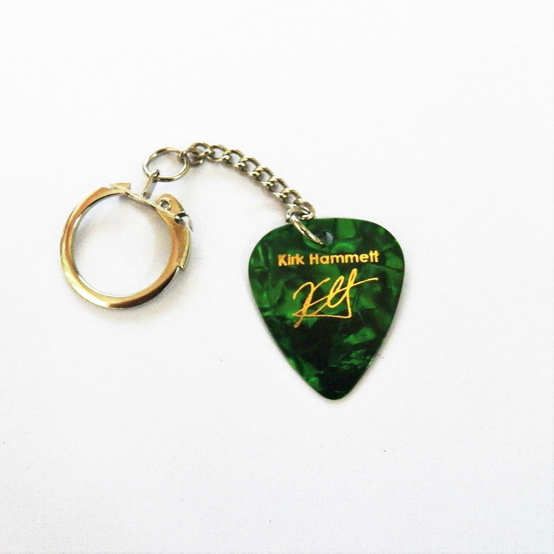 Kirk Hammett metálica Cartas Marca púa púa para guitarra llavero, VERDE PERLA: Amazon.es: Instrumentos musicales