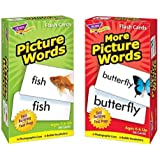 Picture Words & More Picture Words Skill Drill Flash Cards - Bundle of 2 Items by Trend Enterprises