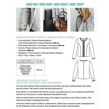 - Cartamodello per giacca Donna - Jacky della casa Victor  Amazon.it  Casa  e cucina 067f90729bf8