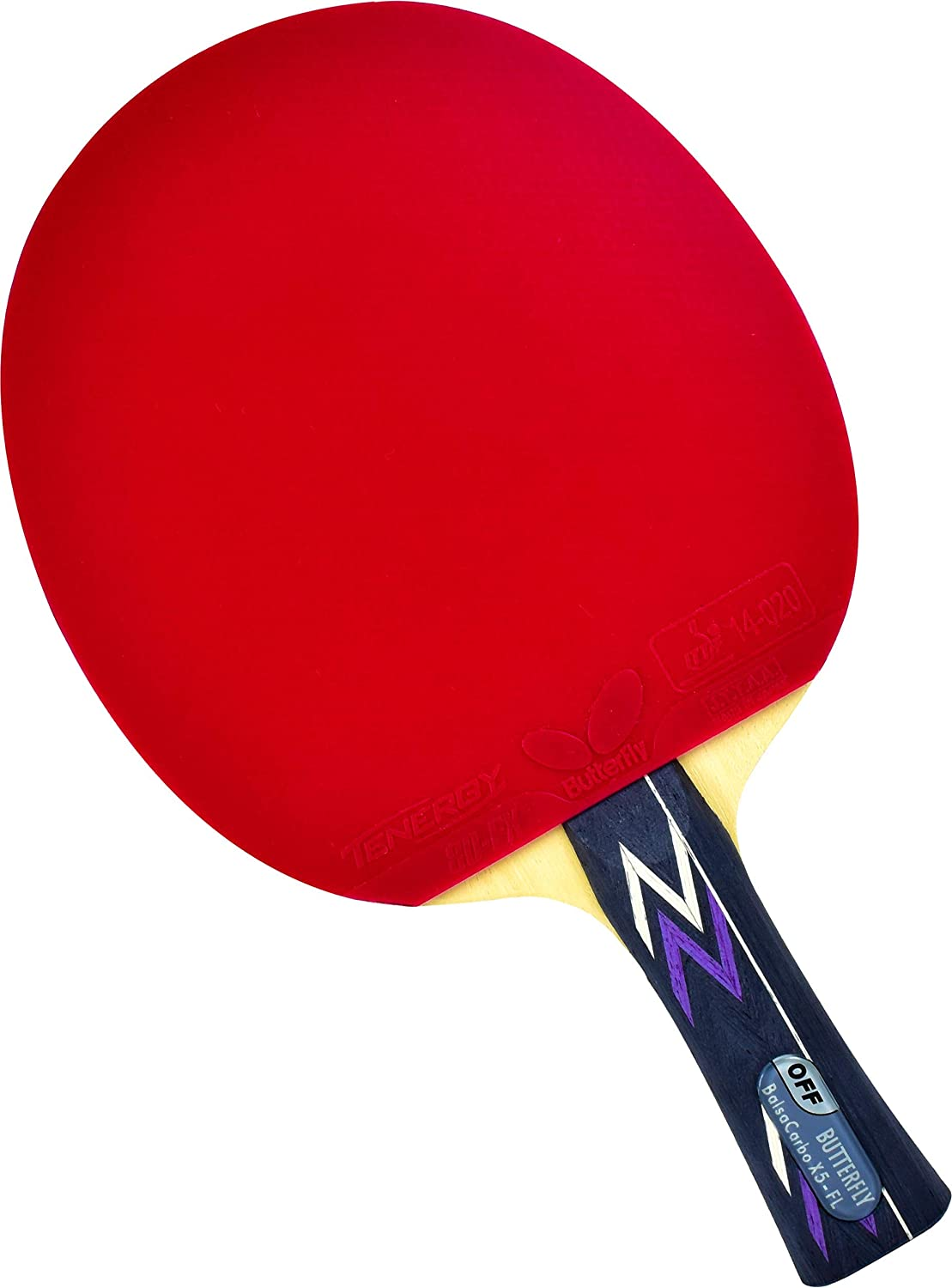 Butterfly Table Tennis Blade Butterfly Pro-Line Hand Assembled Professional Table Tennis Racket Choose Your Professional Ping Pong Paddle Combination Butterfly Table Tennis Rubber ITTF Approved Tournament Ping Pong Racket